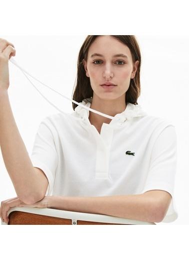 Lacoste Kadın Kapüşonlu Tişört PF8046.001 Beyaz